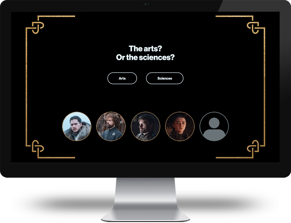 Game of Thrones social sharing app
