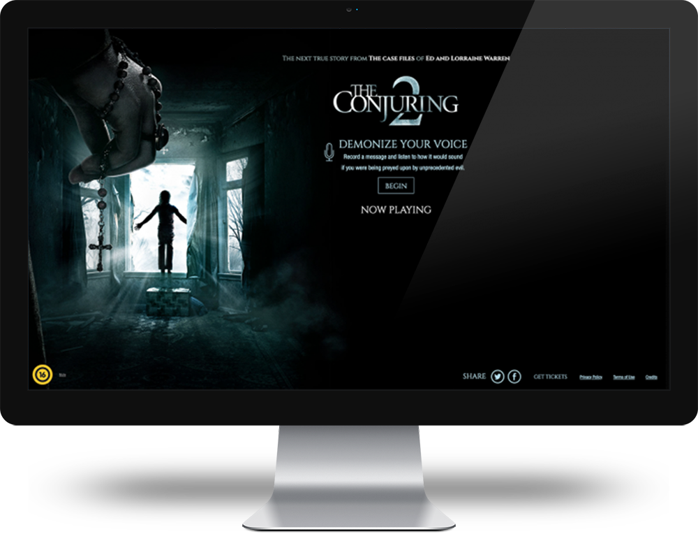 The Conjuring - voice-enabled web application
