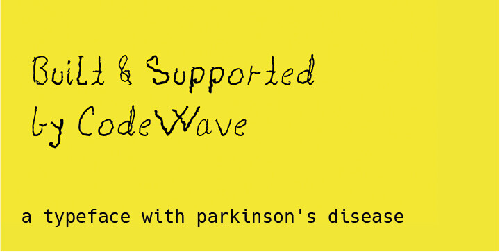 Shake font - a typeface with parkinson's disease